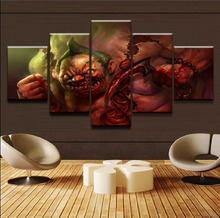 5 Pieces Modern Top-Rated Canvas Printed DOTA2 Home Decoraive For Bedroom Living Room Wall Art Painting Pictures Game Poster