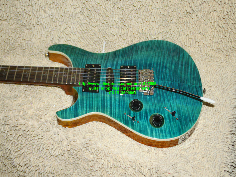 Left Handed guitars blue flame  Electric Guitar New Arrival guitars from China best hot