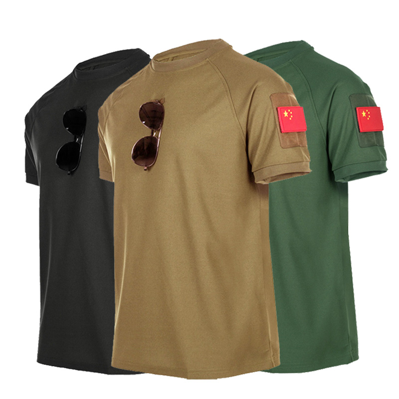 S-XXXL Outdoor Training Tactical T-shirt Uniforms Breathable Short-sleeved Men's Shooting Hunting Quick-drying Security Service