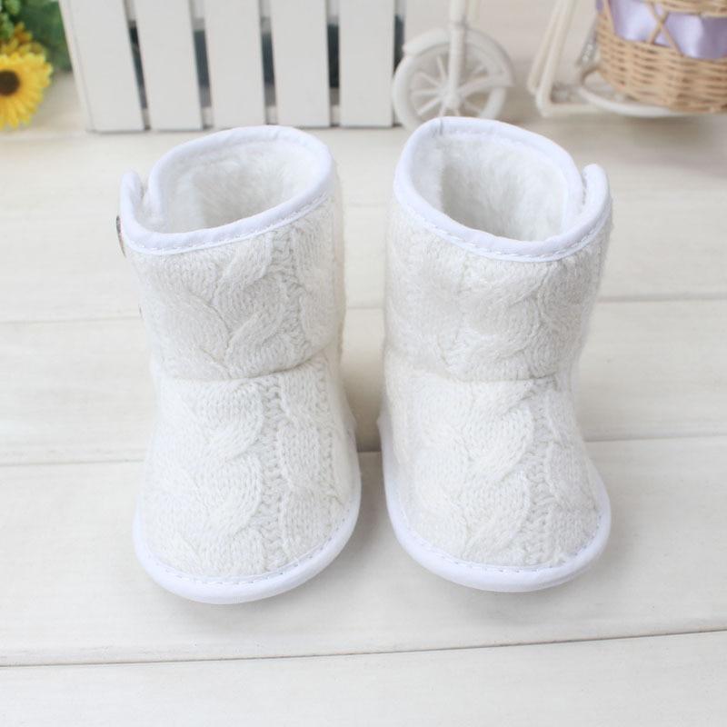 Гарачая продаж зімой дзіцячая абутак цёплыя чаравікі снегу для 3-18M гадоў дзеці замша Toddle абутак бясплатная дастаўка