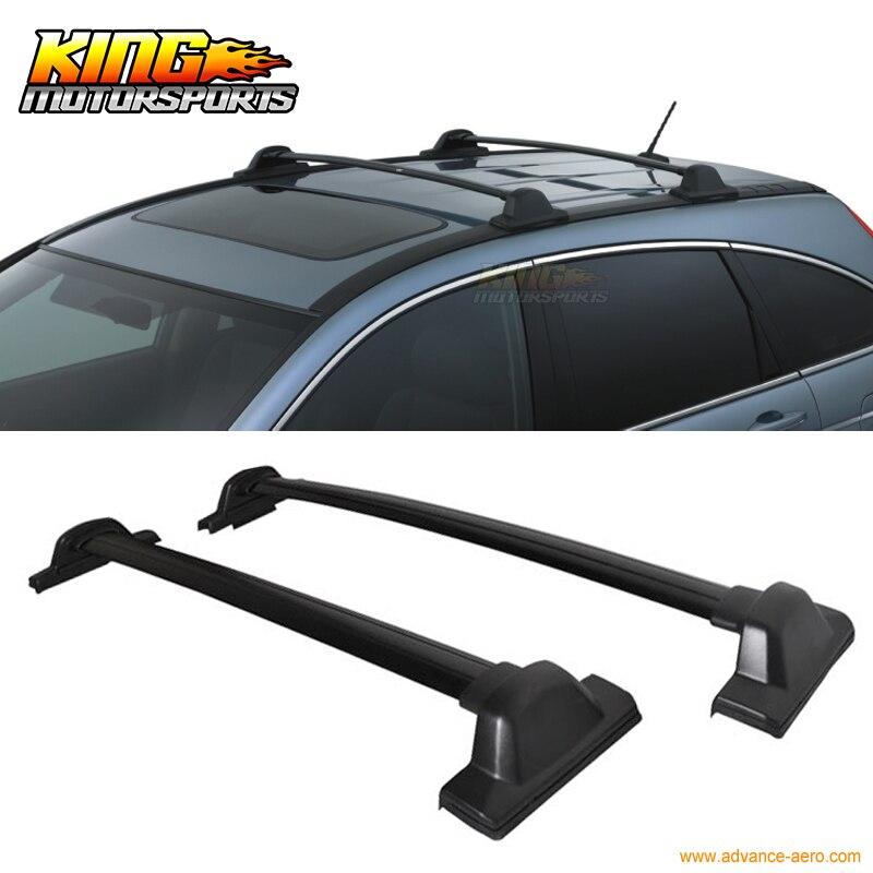 For 2007-2011 Black OE Factory Style Top Roof Rack Cross Bar For Honda Crv CR-V ...