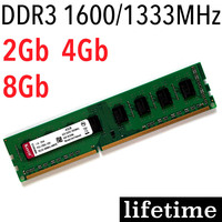 DDR3 RAM 4Gb ddr3 8gb speicher 8Gb 4Gb 2Gb 1600Mhz 1333 Mhz/für AMD für Intel memoria ddr3 1600 1333 2G lebenslange garantie|memory 8gb|4gb ddr3ram 4gb ddr3 -