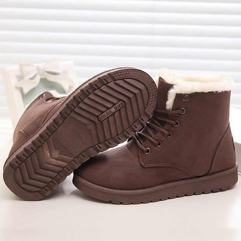 รองเท้าผู้หญิง 2019 รองเท้าข้อเท้าใหม่หญิงฤดูหนาวผู้หญิงหิมะรองเท้าอุ่นรองเท้าผู้หญิงฤดูหนาว Booties PLUS ขนาด 43 รองเท้า