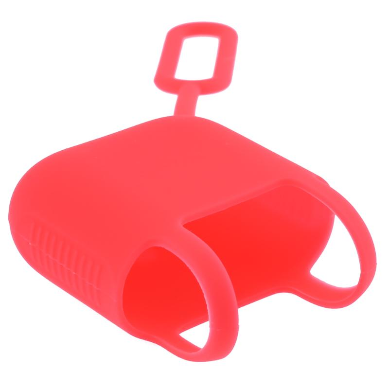 Red Silicone Case Airpod Charger Case Shock Proof Protective Cover Case Skin Sleeve For Apple Air Pods Wireless Headphone Box