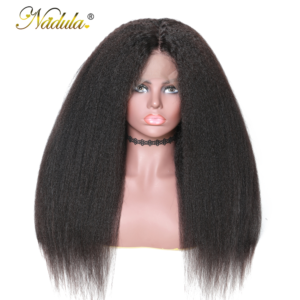 Nadula Hair 360 Lace Frontal Wig 100 Human Hair Wigs For Woman 150 Density Kinky Straight