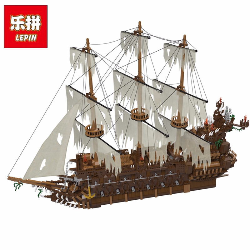 Lepin 16016 3652Pcs Movies Series MOC The Flying the Netherlands Building Blocks Bricks Compatible Pirates Caribbean 16006 Toys lepin 16016 3652pcs movie series flying the dutch blocks bricks toys for children compatible legoing pirates caribbean