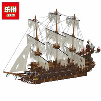 Lepin 16016 3652Pcs Movies Series MOC The Flying the Netherlands Building Blocks Bricks Compatible Pirates Caribbean 16006 Toys