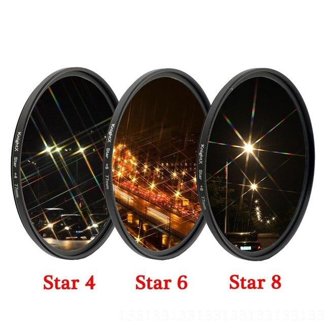 Gwiazda linia filtr obiektywu aparatu 49MM 52MM 55MM 58MM 67MM 72MM 77MM dla canon eos sony nikon 500d 1200d fotografia 50d zestaw d70 zestaw