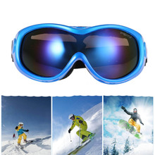 Anti-Fog Single Layer Skiing Eyewear Winter Ski Goggles