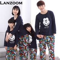 Family Matching Outfits Baby Mom Women Girl Kids Spring Fall Pajamas Mother Father Child Pajamas Family