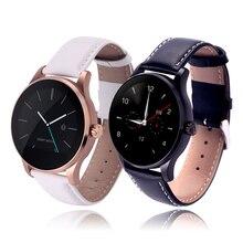 CACGO K88H Liebhaber Stil SmartWatch Leder Armband Wasserdichte MTK2502 Bluetooth Pulsmesser Call Dial Für Android IOS