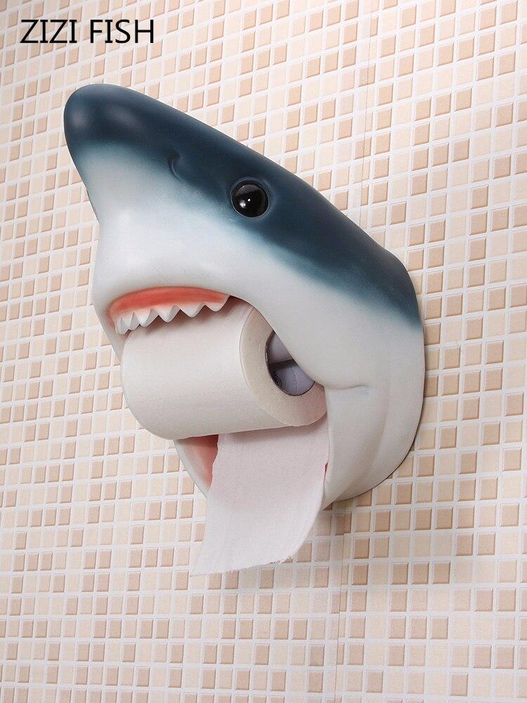 Держатель для полотенец для ванной комнаты Акула дельфины держатель для туалетной бумаги водонепроницаемый настенный креативный персональный тканевый ящик