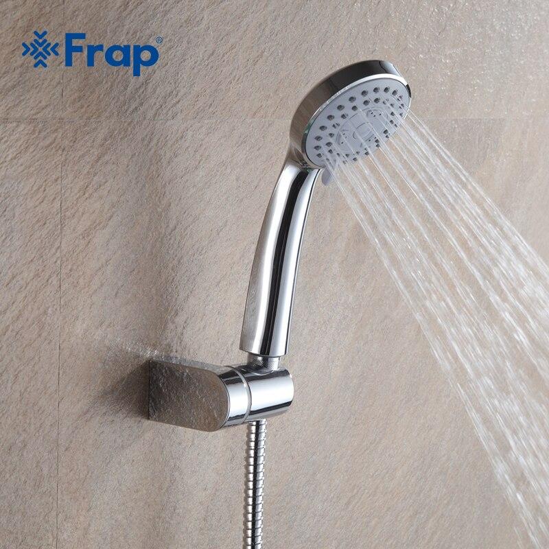 Frap Üçüncü vites ayarı Su tasarrufu yuvarlak duş başlığı ABS plastik el tutma yağmur sprey banyo duş Banyo Aksesuarları F01