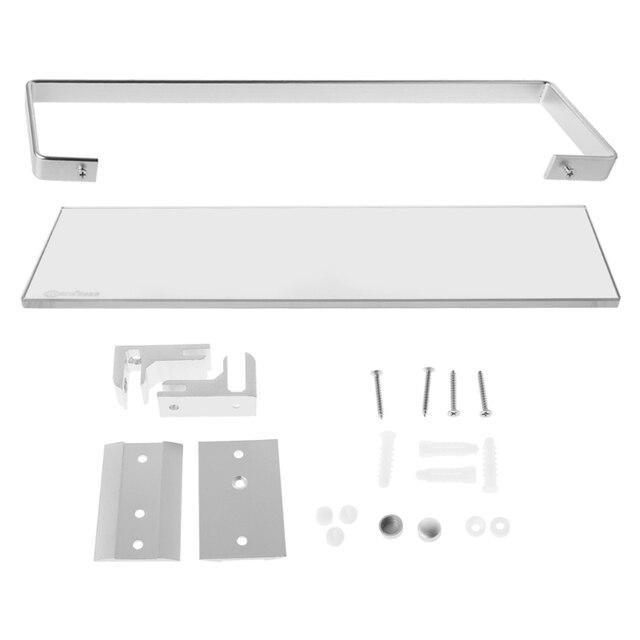 aliexpress com buy bathroom tempered glass shelf with aluminum rh aliexpress com Glass Shelf Brackets Glass Shelf Brackets