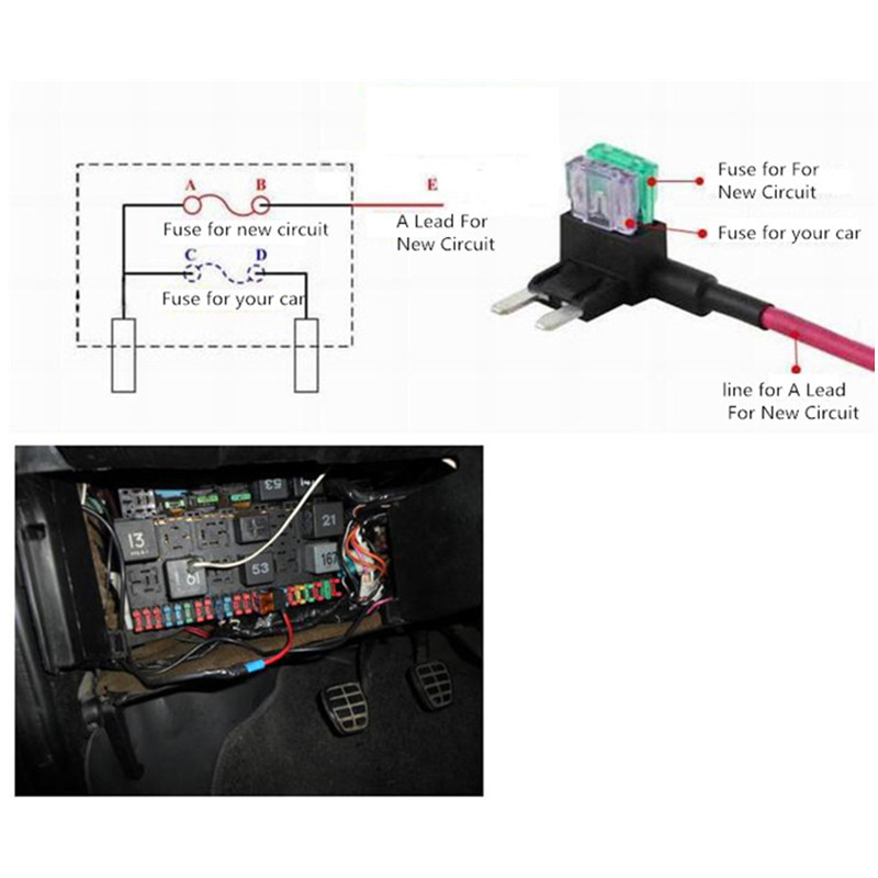 12v Car Add a circuit blade Fuse TAP Adapter small ATM APS ATT Blade Fuse Holder 12v car add a circuit blade fuse tap adapter small atm aps att Online Car Wiring Diagrams at soozxer.org