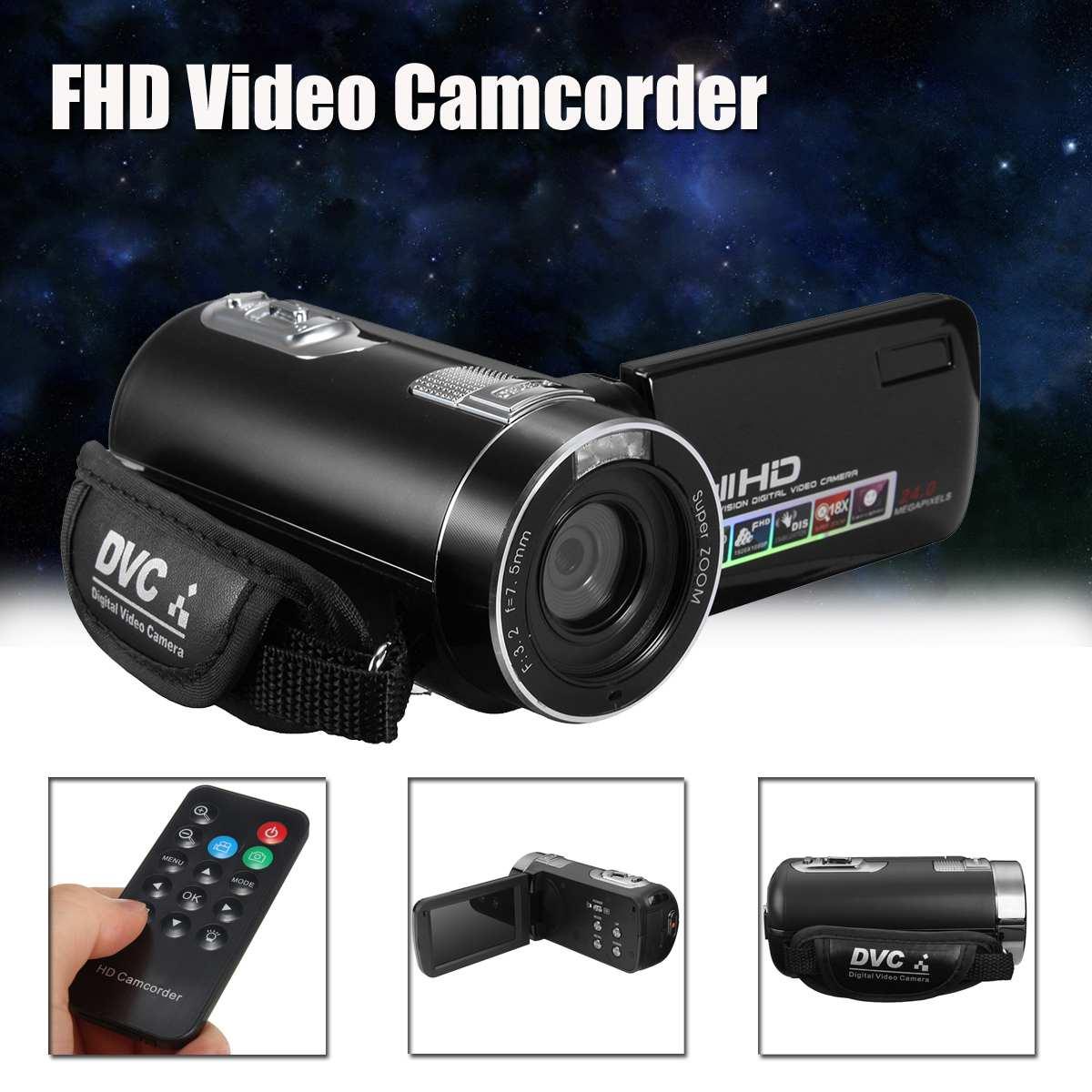 3.0 pouces 1080P FHD caméscope vidéo de nuit 24MP appareil photo numérique avec télécommande caméscopes grand public