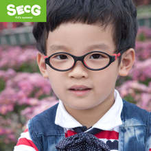 d4a7b0d5d8f SECG Cute Round Kids Glasses Frame Silicone Optical Myopia Detachable Solid  Flexible Soft Children Glasses Eyewear Spectacles