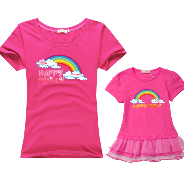 cotton casual Short Sleeve T-shirt family matching outfits