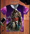 Hot Nova Verão 2016 Camisas Da Forma T Dos Homens de Manga Curta jogo Assassins Creed Tees T-Shirt de Impressão 3D Design Online Gratuito grátis