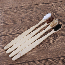 5pcs Natural Family Bamboo Toothbrush set Soft Bristle Dental Oral Care tools Eco Friendly Travel wooden Tooth Brushes wholesale