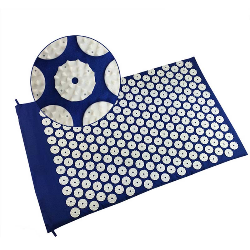 Yoga Mat Massager Massage cushion Acupressure Mat Relieve Stress Pain Acupuncture Spike Body relieve sress PVC Health Care Relax free shipping massager body massage cushion back neck care acupressure shiatsu massager relieve pain physiotherapy equipment