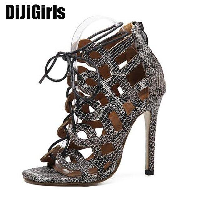 7eec57286e2f00 Vrouwen pomp dames sandalen stiletto schoenen sandaaltjes hoge hakken pumps  enkelbandje hakken lace up sandalen vrouwen