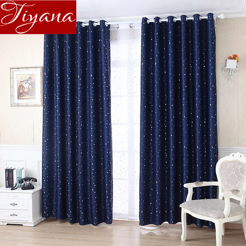 Stars Yarn Sheer Panel Curtains Voile Decorative Window For Modern Living Room Bedroom Blackout