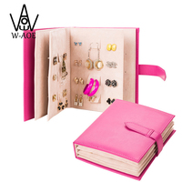 2015 New Design Jewelry Boxes And Packaging PU Leather Jewelry Stand Book For Earrings Display Organizer