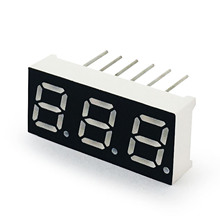 "MCIGICM 100pcs 7 segment Common Anode 3 Bit digital Tube 0.28"" 0.28in. Red LED Display 7 segmentos LED Digital tube"
