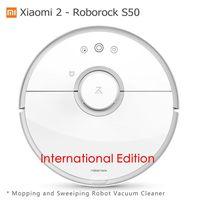 Xiao mi 2 Roborock S50 Roborock пылесос Влажная Уборка подметания робот Оригинал Сяо mi версия mi Цзя App wi Fi пульт дистанционного Управление