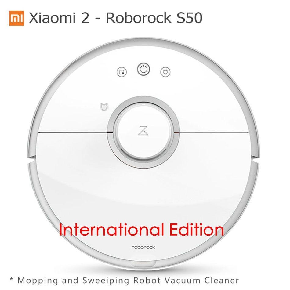 Xiaomi Mi 2 Roborock S50 Robot Vacuum Cleaner Wet Mopping Sweeping Xiaomi CE International Edition Mijia