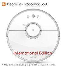 Xiao mi 2 Roborock S50 Roborock пылесос Влажная Уборка подметания робот Оригинал Сяо mi версия mi Цзя App wi-Fi пульт дистанционного Управление
