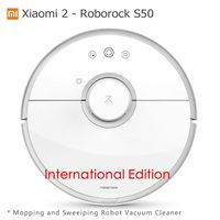 Xiaomi Mi 2 Roborock S50 Robot Vacuum Cleaner Wet Mopping Sweeping Xiaomi CE International Edition Mijia App Wifi Remote Control
