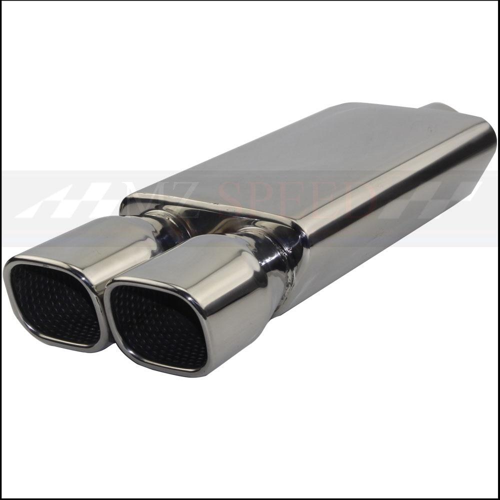 Accessori per auto di Scarico del Silenziatore Del Tubo Lucido 304 In Acciaio Inox Silenziatore Per Mercedes-Benz BMW Honda Motore Silenziatore