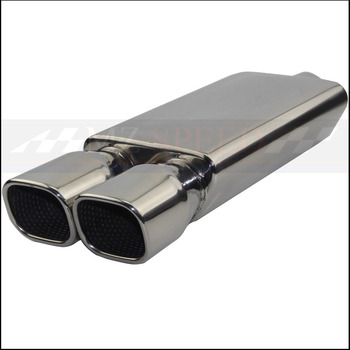 Car accessories Exhaust Pipe Muffler Polished 304Stainless Steel Silencer For Mercedes-Benz BMW Honda Motor Muffler muffler for wacker bs500 bs600 bs700 bs50 2 bs60 2 bs600oi bs500oi bs700oi bs50 2i bs70 2i free shipping exhaust silencer
