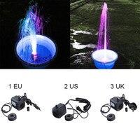15ワット800l/h水中噴水プール水ポンプで12色ledライト水槽水族館噴水池プールパンプス装飾