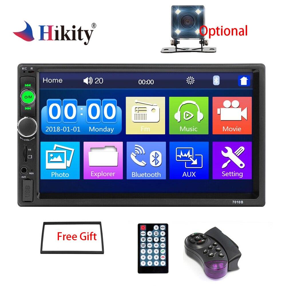 Hikity auto radio 2 din Auto Radio 7 Zoll Auto Radio Multimedia Player mit Android Spiegel link Unterstützung Lenkrad fernbedienung
