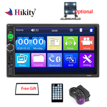 Hikity auto radio 2 din Car Radio 7 Inch Auto Radio Multimedia Player with Android Mirror link Support Steering Wheel Remote cheap Radio Tuner 20 50 cm*11 5 cm*14 9 cm 1024*600 Metial+Plastics 87 5 - 108MHz 4*60W car audio English 0 78kg In-Dash 2din Car Stereo