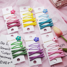 WPCZQVZA 5PCS/Set New Kawaii Flower Hair Pins Chic Candy Color Girls Clip Fashion Party Children Accessories