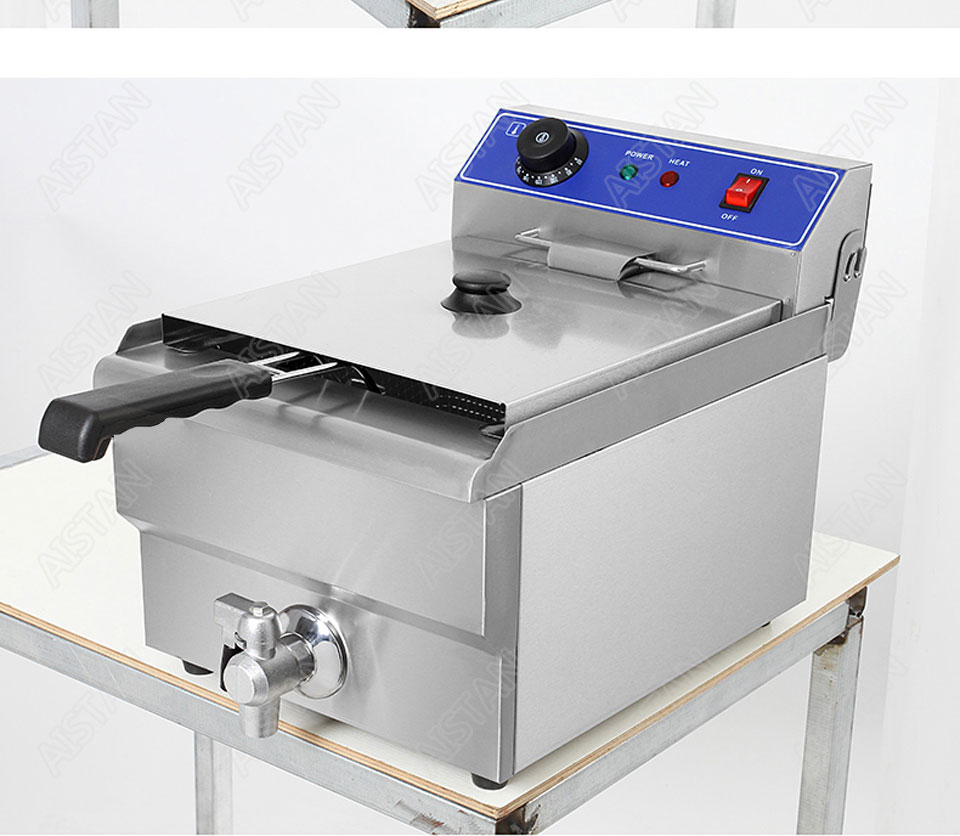 EF101V stainless steel electric deep fryer fried chicken fried potato chips for kitchen appliance 24