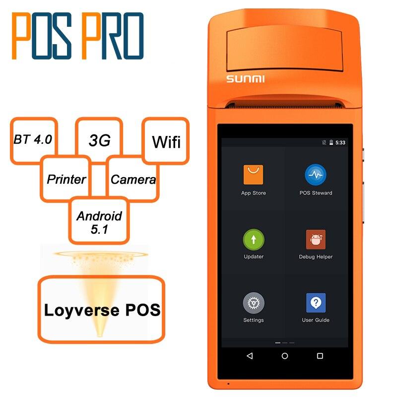 Free software Loyverse Handheld POS Terminal Online Order Receipt Printer Wifi Bluetooth Thermal Printer Retail shop Restaurant