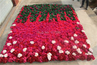 Free Shipping 3*2.4M Artificial silk rose flower wall wedding background arrangement decoration flower wedding centerpieces