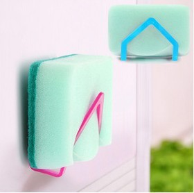 Wholesale sucker multifunction shelving rack dish sponge cloth folder ultra-practical scouring rack