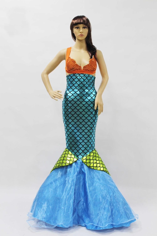 2018 New Mermaid Dress Mermaid Tail Costume Wedding Dresses Mermaid ...