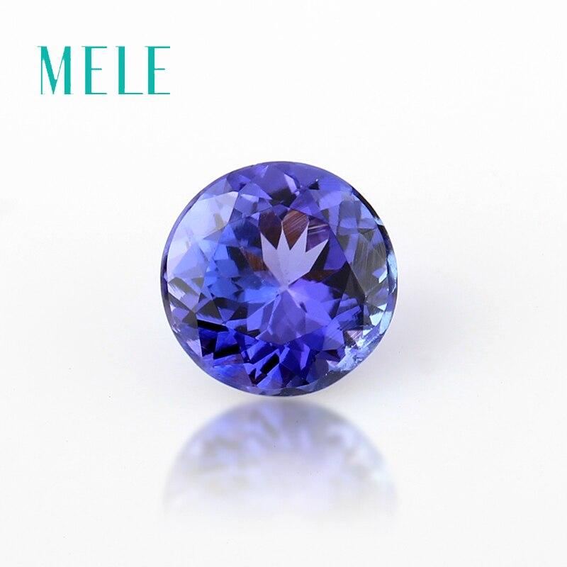 Натуральный Синий циркониевый свободный камень 6 мм, круглый камень для изготовления ювелирных изделий, высококачественный дизайнерский к
