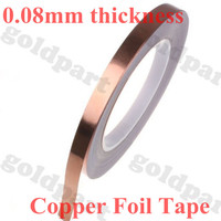 0 08mm Thick 50mm 30M One Face Glue Conductive Copper Foil Eliminate Electromagnetic Interference Tape