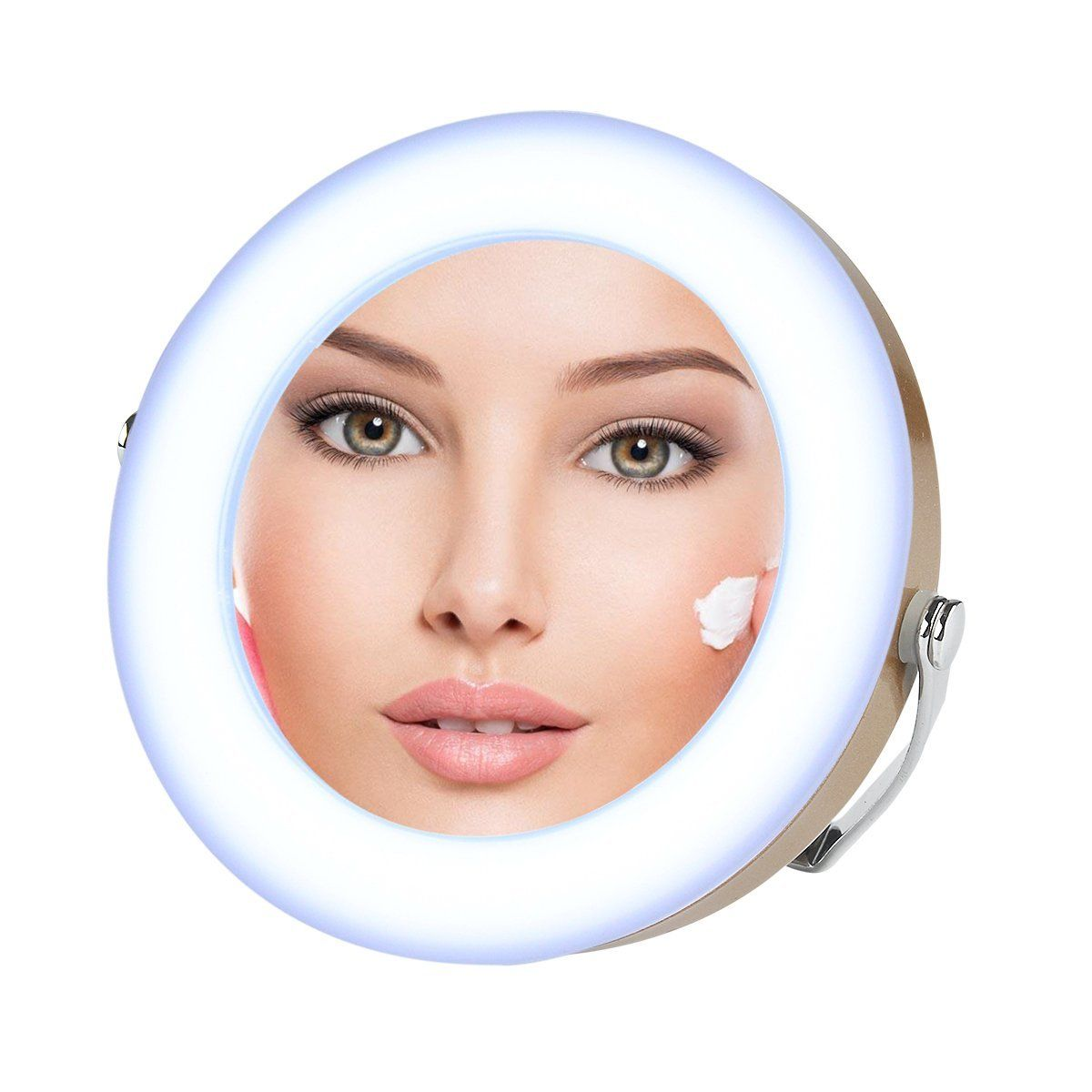 Desktop LED Vanity Lighted Cosmetic Mirror Makeup 3x Magnifying Stand Mirror NEW