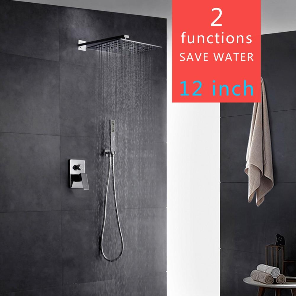 NEW Shower Faucet Bathroom Tub Spout Arm Sprayer Wall Mounted Rainfall Brass Shower