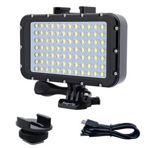 Image 1 - Suptig 84 LED High Power Dimmable Waterproof LED Video Light Waterproof 164ft(50m) For Gopro Hero 6 5 4 3 XiaomiYI  slr camera