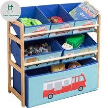 Луи Мода Детские шкафы современный простой детский сад многоэтажная игрушка стеллаж для дома
